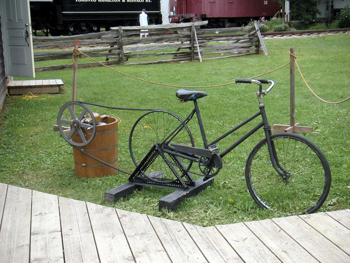 4. Or, use that old bike to hand-churn some refreshing ice cream.