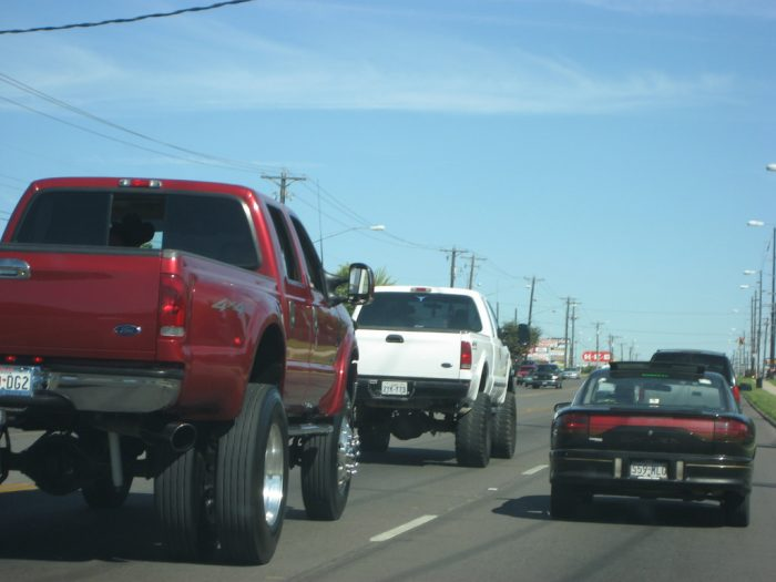 13. Your honey drives a gas guzzling truck.