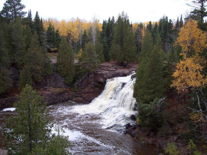 16. Explore Gooseberry Falls! Everyone's favorite North Shore falls are also accessible via a short paved trail that offers unreal views of the cascading water.