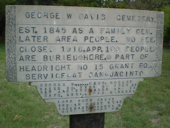 8. Davis Cemetery's first burial dates back to 1851 and is taken care of by descendants of family, neighbors, and friends.