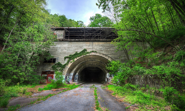 2. Abandoned Pennsylvania Turnpike