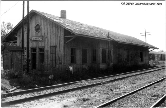 3. The Illinois Central Gulf Railroad serviced Mississippi from 1972 – 1988, and this Brandon depot was one of the many stops along its route.