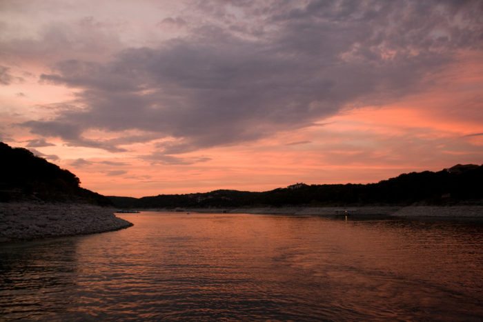 16. Catch a beautiful sunset over Lake Travis.