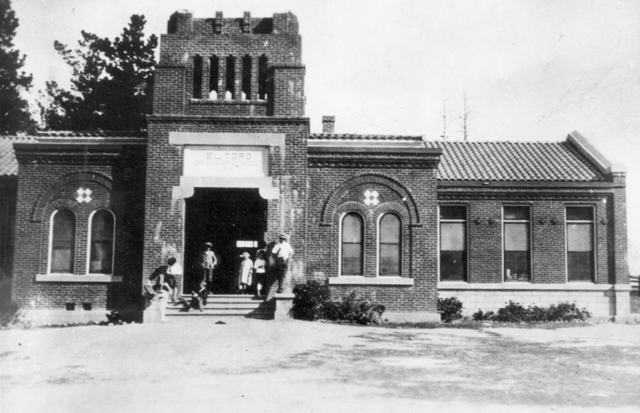 5. The original location of the El Toro School from the 1900s long before it was torn down in the '80s due to an unstable structure.