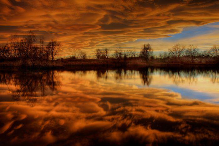 2. Sunset on Confluence Pond