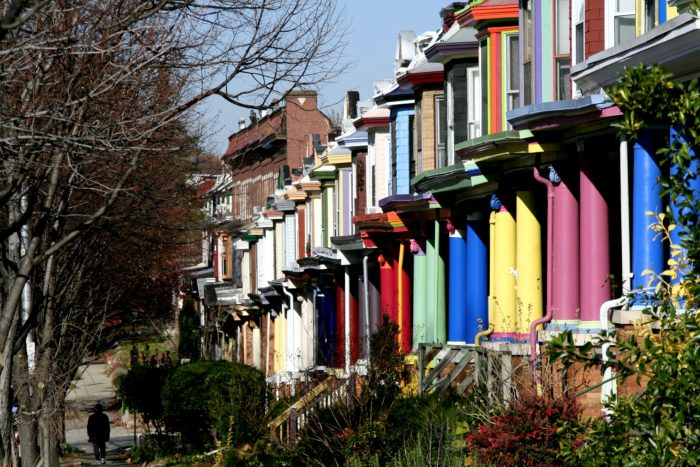 4. The 'Painted Ladies' in Baltimore's Charles Village are an unexpected burst of happiness.