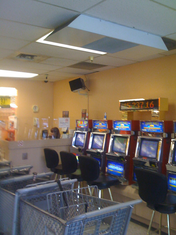 9. Slot machines in the grocery store seem normal.