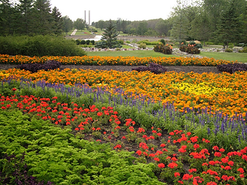 7. The lush flower beds at the International Peace Garden make up one of the most vividly colorful places in the state.