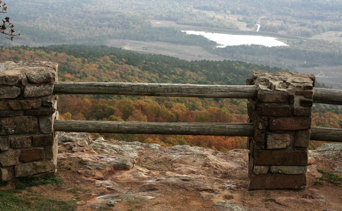 9. See the Petit Jean River Valley at Petit Jean River Overlook on Mount Magazine.