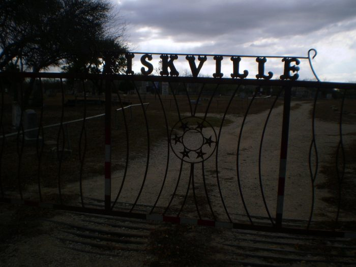5. Fiskville Cemetery dates back a couple centuries and has recently been maintained by the community.