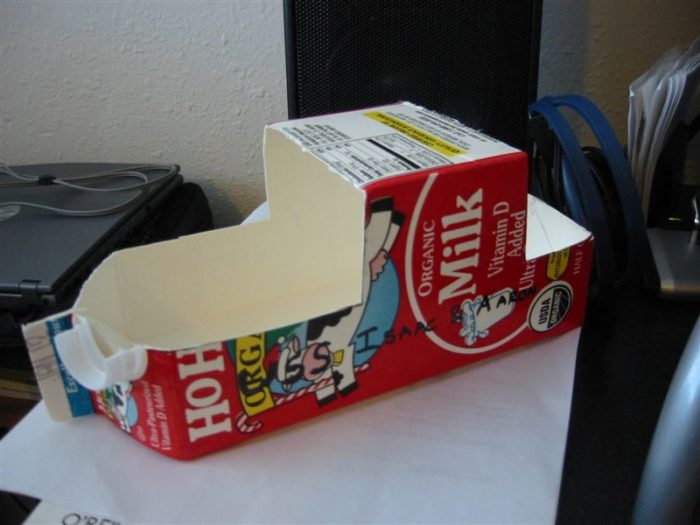 13. If you deface a milk carton, you're subject to a $10 fine.