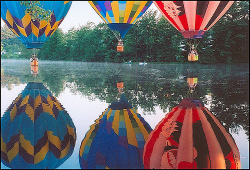 3. The Pittsfield Hot Air Balloon festival adds even more magic to the New Hampshire wilderness.