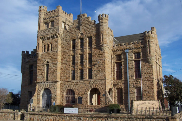 4. Don't be fooled. This is not your fairytale castle. This is Brown County Jail built in 1903.