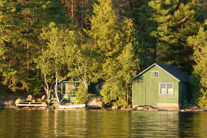 15. Moosehead camp views will have you dreaming of sunny days.