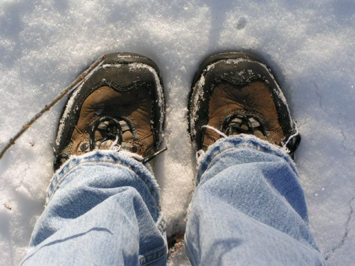4. Invest in a good pair of snow boots.