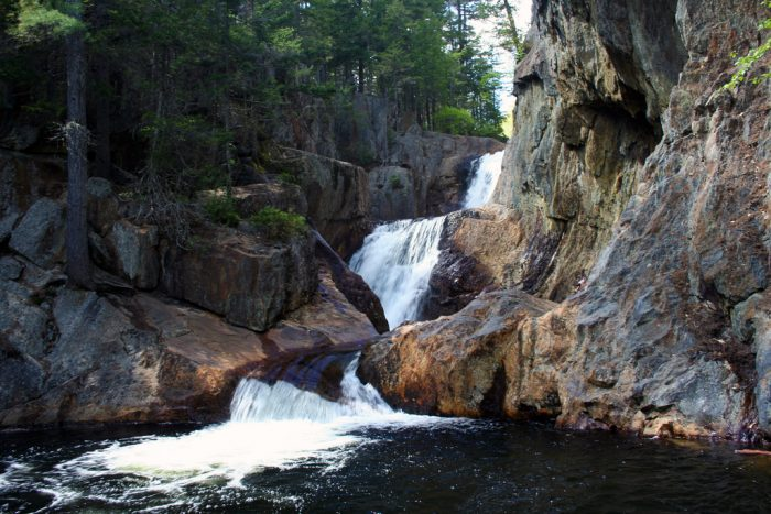 2. Smalls Falls near Rangeley are among the beautiful waterfalls in Maine.