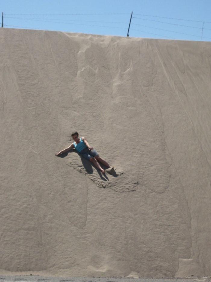 2. Go sledding on a sand dune.