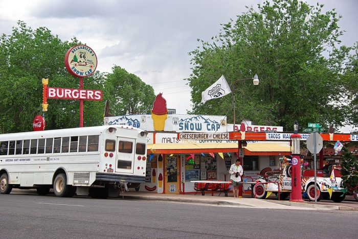 4. Check out the eclectic Delgadillo's Snow Cap for a burger and a shake.