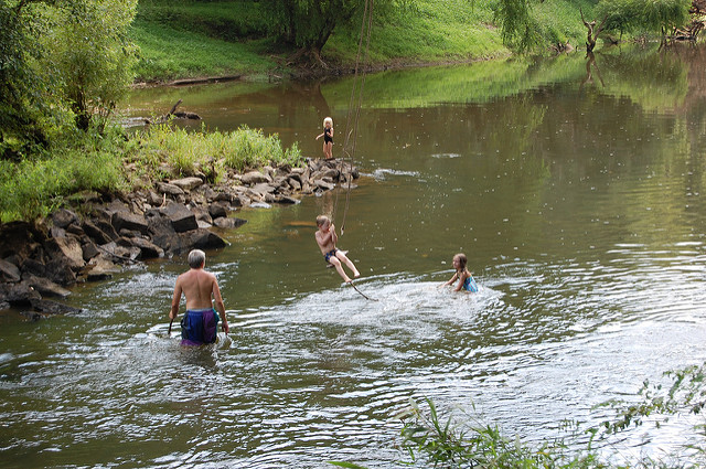 10. Hold on tight to that rope swing or jump right in one of North Carolina's many swimming holes. Most are filled with fresh mountain water. The only downside - it can be chilly!
