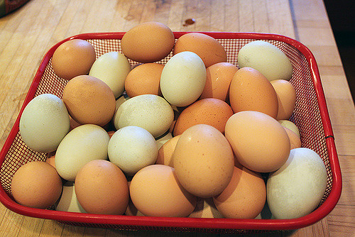 11. You swap some sort of fresh food with your neighbor, whether it's eggs, meat, fish or produce.