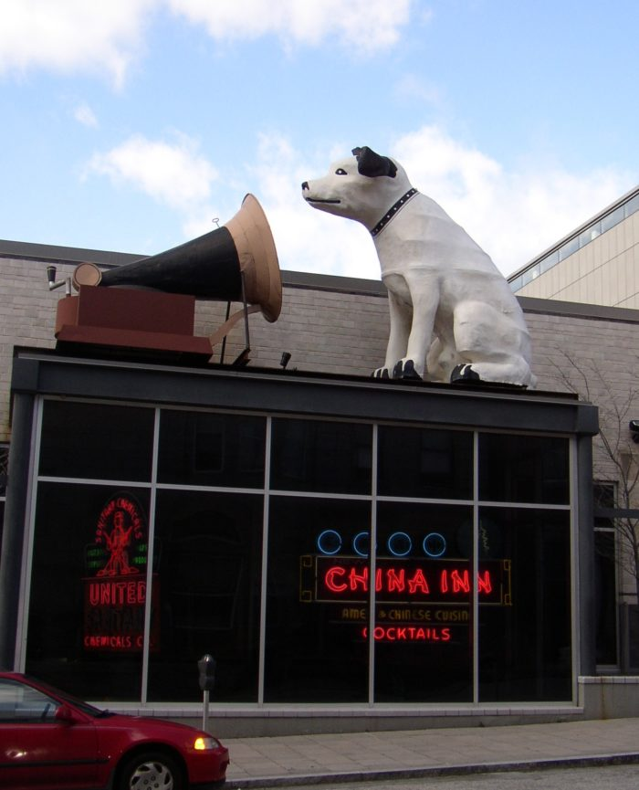 17. Years ago this was the RCA corporate icon. Now, Nipper the dog sits atop this building in Baltimore, and has become a popular spot for people to snap photos.