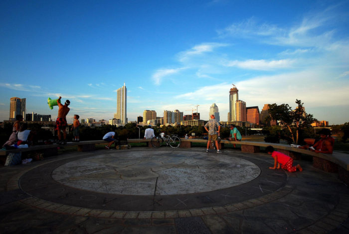 5. Catch that lovely Austin skyline from the top of Doug Sahm Hill in Butler Park.