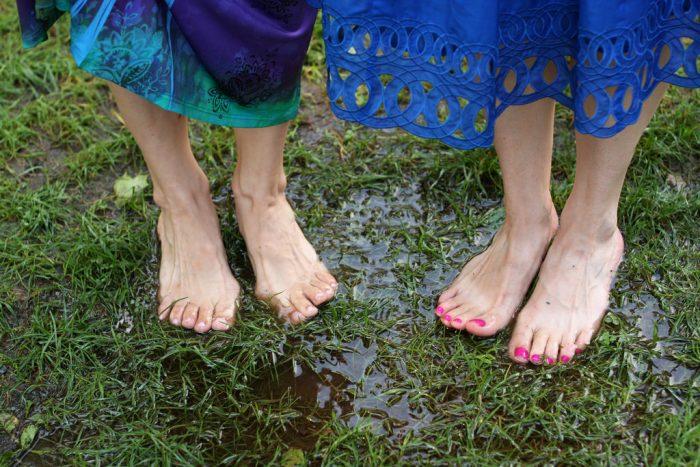 15. Go barefoot.