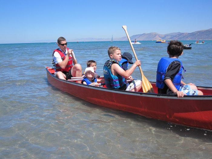 10. Canoe on Bear Lake.