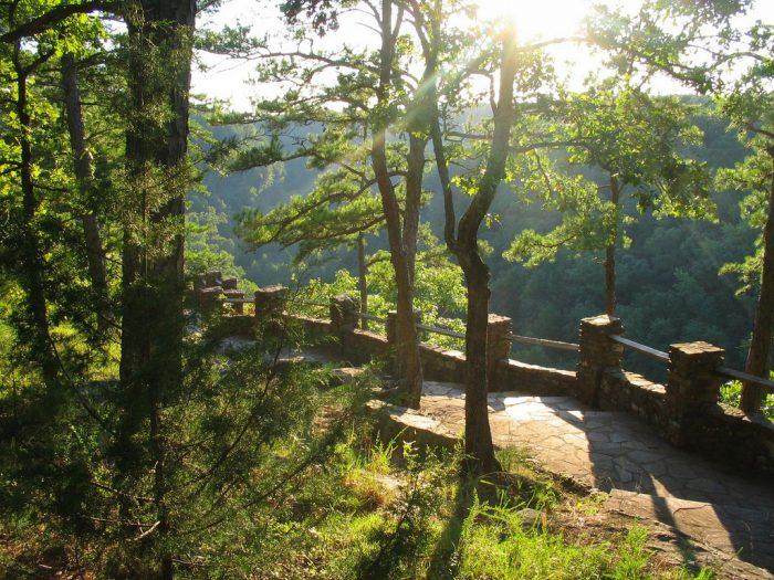 1. Visit the overlooks on Petit Jean Mountain.