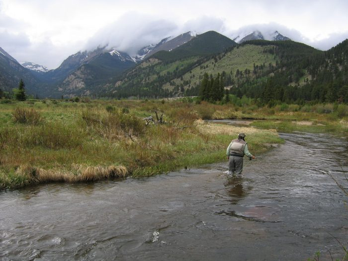 5. Enjoying the solitude of fly fishing.