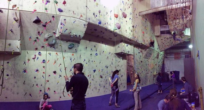 4. Get a bird's eye view from atop The Climbing Wall.