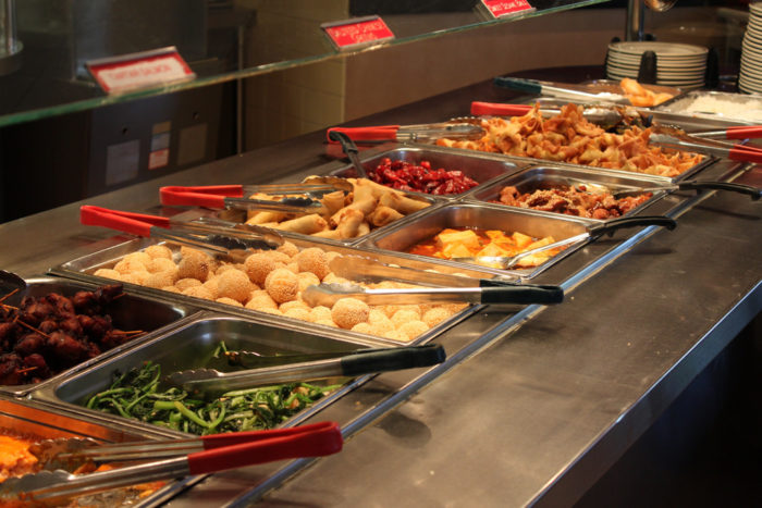 8. Don't dine at an all-you-can-eat buffet.