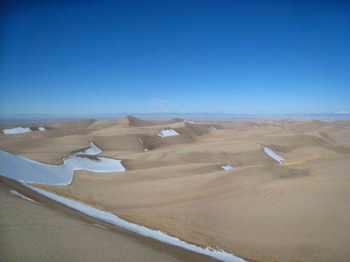 6. In addition to protecting the unique area, the Great Sand Dunes were designated as a National Park in order to shield the extra water located just inches below the sand.
