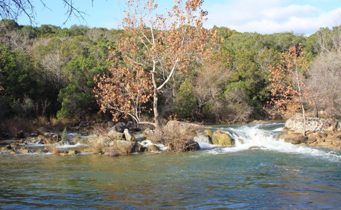 6. Twin Falls is part of the Greenbelt and is a popular place for Austinites to take a dip when it's hot out.