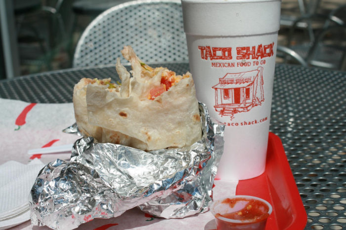 4. Taco Shack has some slammin' good breakfast tacos. Even though they're only open for breakfast, they're still a great contender.