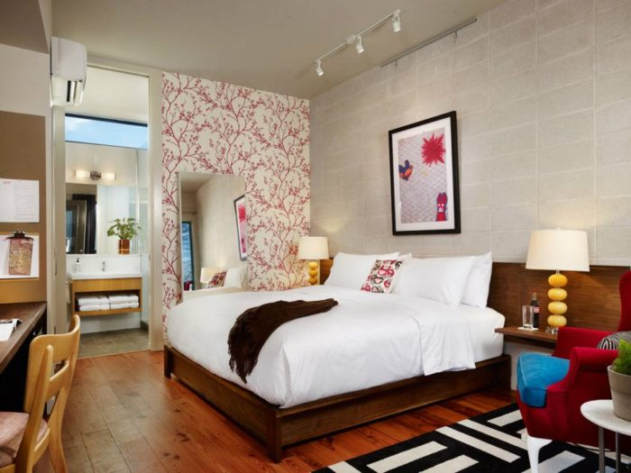 2. Spend a night at the Heywood Hotel for chic luxury, right in the middle of all the action - Lady Bird Lake, the Train, and tons more are within a mile radius.