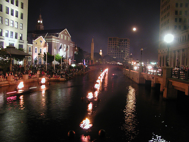 9. Uniquely fabulous events like WaterFire are common occurrences here.