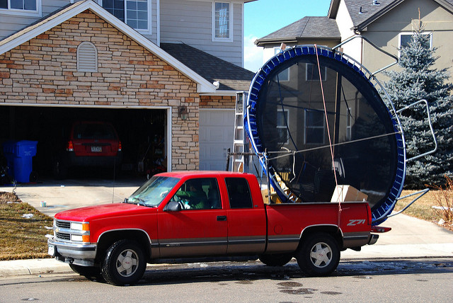 8. Renting a moving truck for anything that can fit in the back of a pickup.