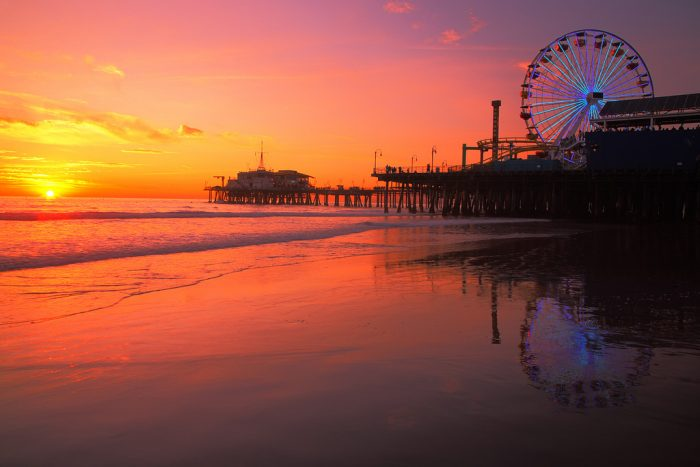 7. Nothing says SoCal like the Santa Monica pier under a majestic sky.