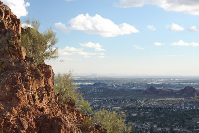1. Camelback Mountain offers a 360-degree view of the Phoenix metropolitan area.