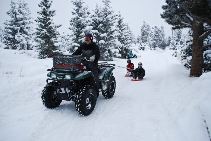 12. Snow doesn't always have to be a drag. Improvise!