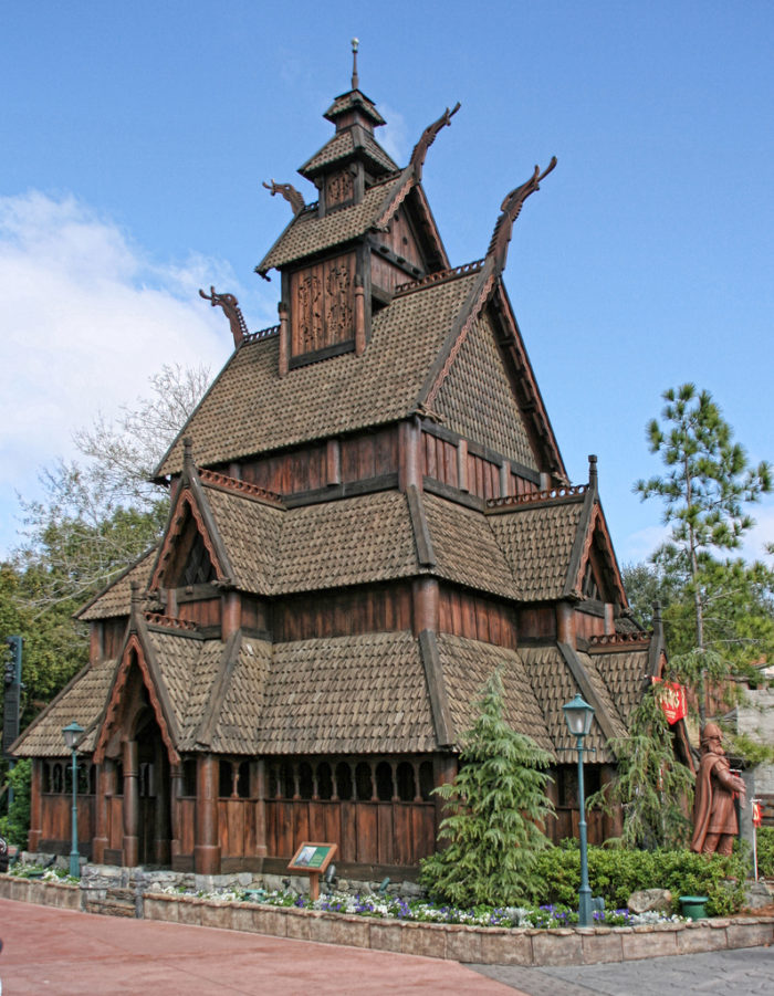 The beautiful Gol Stave Church is a to-scale replica of the Gol Stave Church that stands in Oslo, Norway