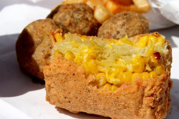7. Deep-fried corn on the cob