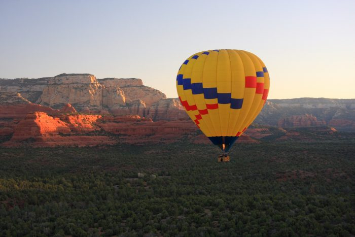 11. Want to see nature from a bird's eye view? Try a hot air balloon ride!