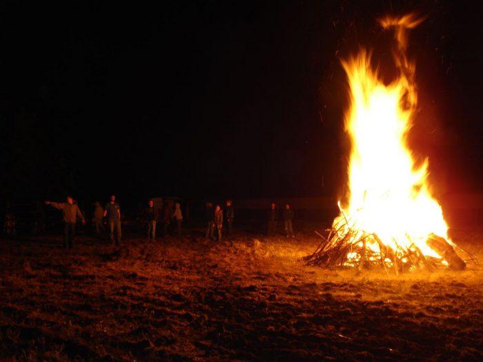 19. Have a bonfire.