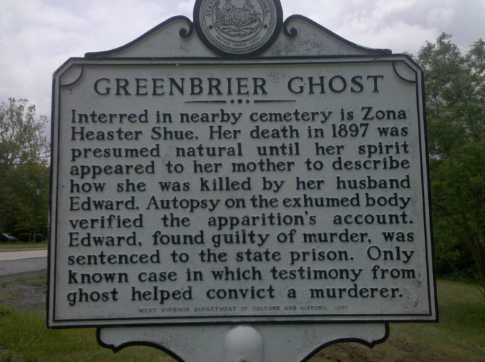 4. Greenbrier Ghost