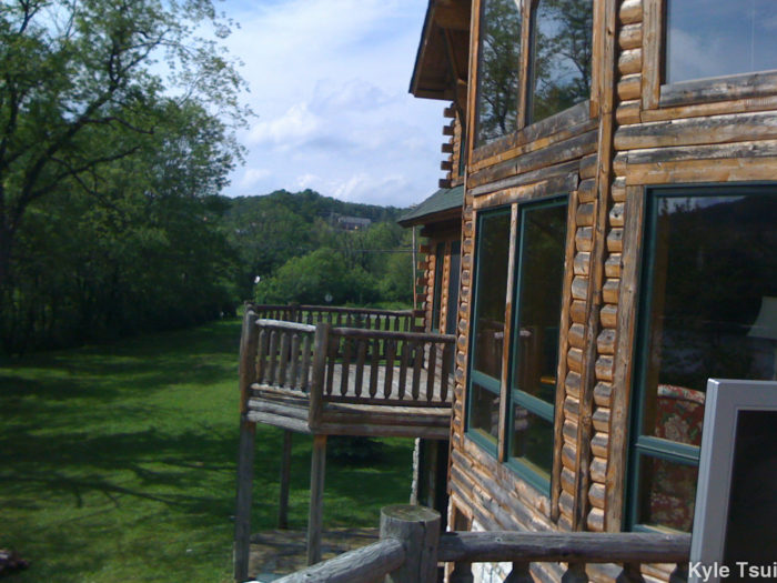 There are a variety of places for lodging in Deep Creek. This includes large luxury cabins with modern amenities...
