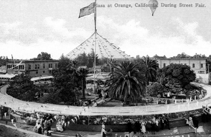 2. The historic Plaza in Orange before it was historic. The Orange Street Fair in 1910 is pictured here.