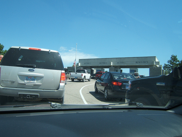 7. You think traffic is bad if there are 4 or 5 cars in front of you.
