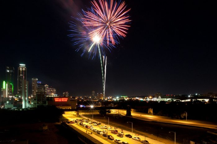 6. View all of the fireworks shows around town from your parked car.